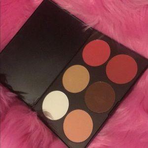 BH cosmetics contour blush 6 color palettes